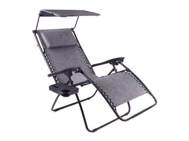 anti gravity chair table modern grey dining chairs uk just relax zero with pillow canopy and clip on