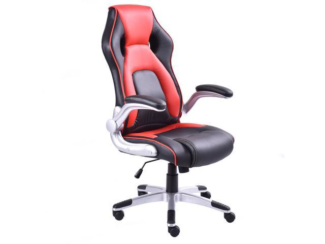 pu leather office chair dining covers auckland executive racing style bucket seat desk gaming