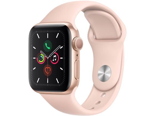 Apple Watch Series 5 (GPS Only, 40mm, Gold Aluminum, Pink Sand Sport Band)