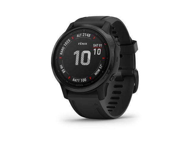 Garmin Fenix 6S Pro, Premium Multisport GPS Watch, - Black with Black Band - (010-02159-13)