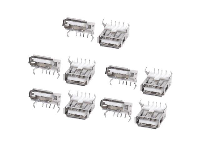 THZY 10PCS USB Type A Standard Port Female Solder