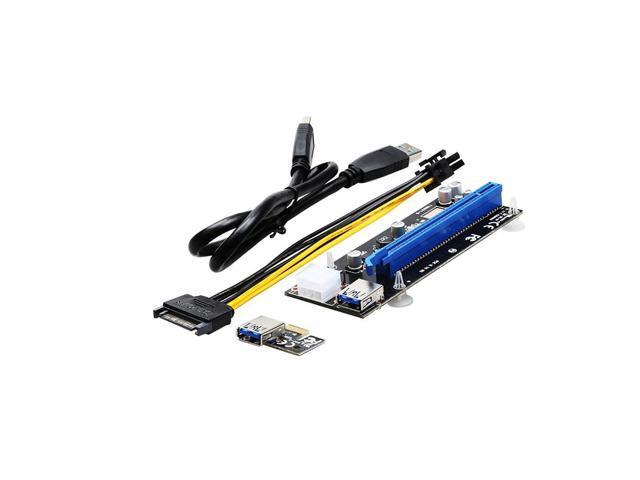 PCI Express PCI-E 1X to 16X Riser Card Extender + USB 3.0