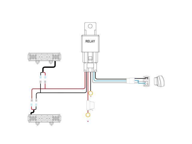 Nilight LED Light Bar Wiring Harness Kit SASQUATCH LIGHTS