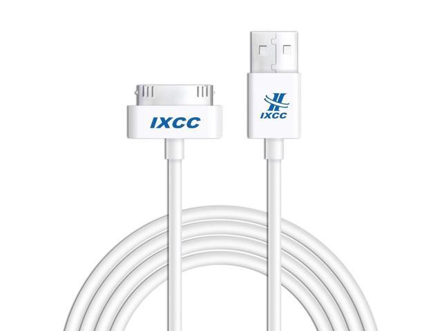 iXCC 10ft Long Apple MFi Certified 30 pin to USB Sync and