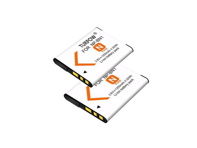 TURPOW 2 Pack Replacement 1200mAh Sony NP-BN1 Battery for