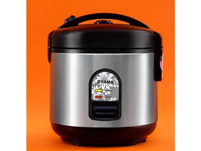 oyama cfs-f10b 5 cup rice cooker, stainless black - Newegg.com
