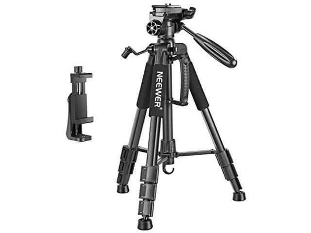 neewer 142cm portable aluminium camera tripod with swivel
