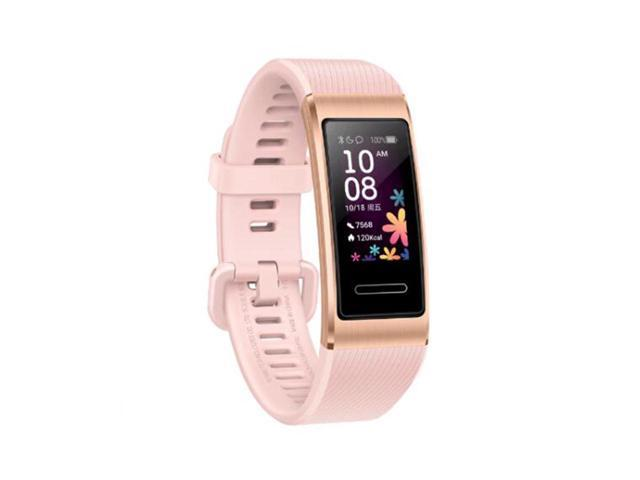 HUAWEI Band 4 Pro - Smart Band Fitness Tracker with 0.95 Inch AMOLED Touchscreen, 24/7 Heart Rate Monitor, Blood Oxygen Saturation Monitor, Built-in GPS, 5ATM Waterproof - Pink Gold
