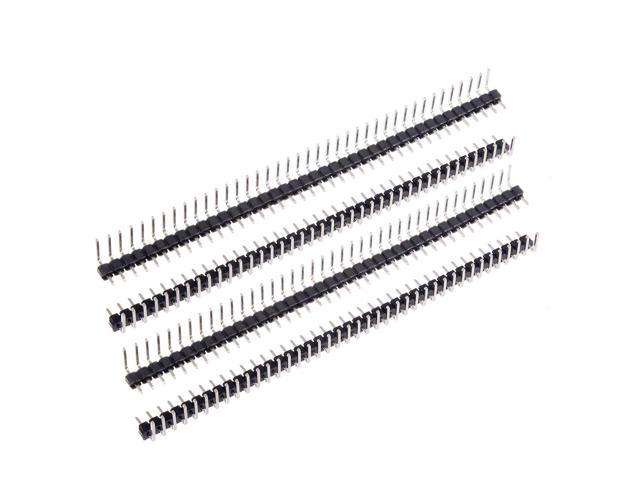 10Pcs 2.54mm Pitch 40P Single Row Curved Connector Pin