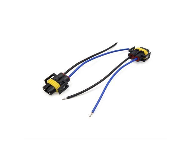 2pcs H11 Headlight Fog Lamp Bulb Wiring Harness Socket