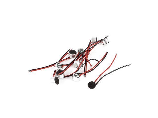 Unique Bargains 10Pcs 3.2mm Long Wires Electret Condenser