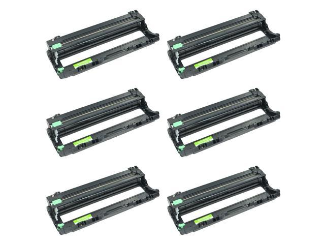 6PK Black DR221 Drum Unit Replacement for Brother DR-221