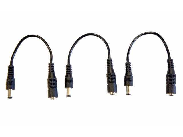 (3) Pack 6in. DC Coaxial Power Male / Female Barrel Plug