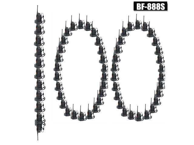 100 Pack Baofeng BF-888S UHF 400-470MHz Handheld Two-way