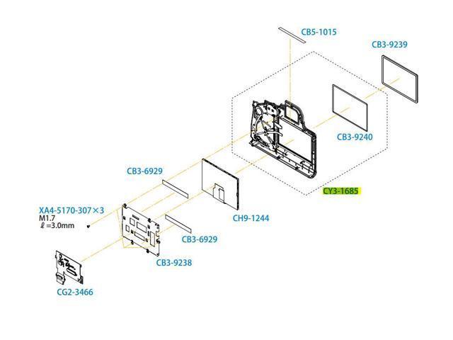 Canon EOS 6D Digital Camera Back Rear Cover Assembly