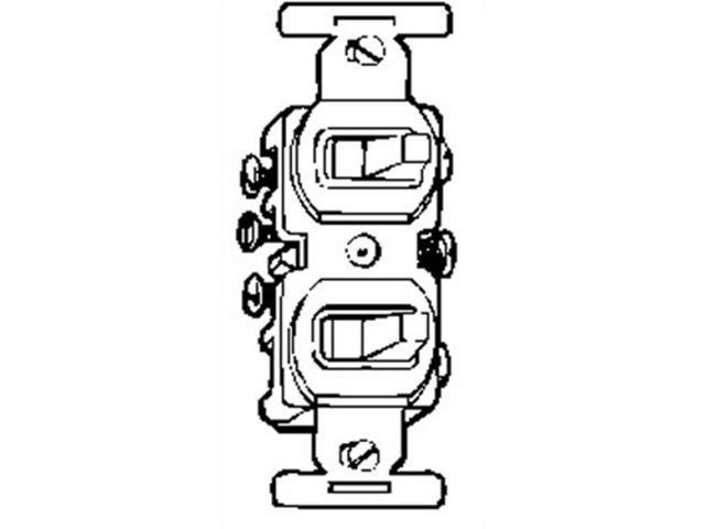 3way White Duplex Switch,No 275W-BOX, Cooper Wiring