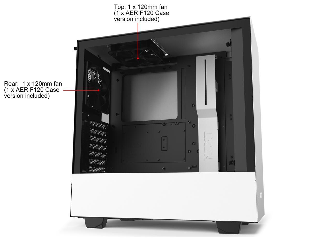 NZXT H510 - Compact ATX Mid-Tower PC Gaming Case - Front I/O USB Type-C Port - Tempered Glass ...