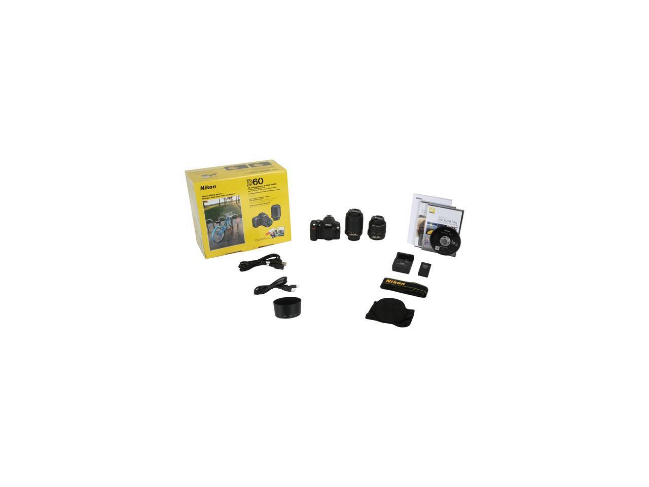 Nikon D60 Black Digital SLR Camera w/AF-S DX VR NIKKOR 18