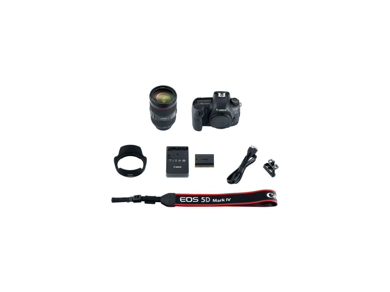 Canon 1483C010 EOS 5D Mark IV DSLR Camera with 24-105mm f