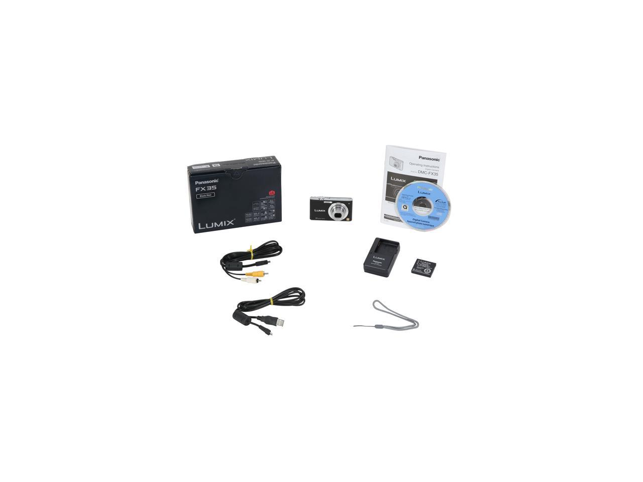 Panasonic Lumix DMC-FX35K Black 10.1 MP 25mm Wide Angle