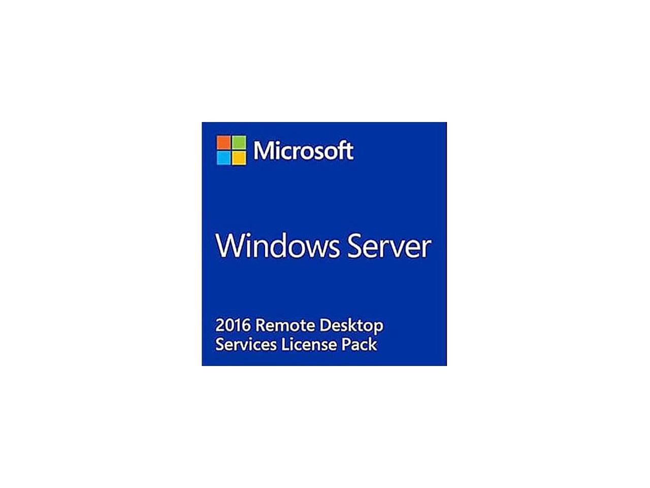 Microsoft Windows Remote Desktop Services 2016 - License - 1 User CAL - Newegg.com