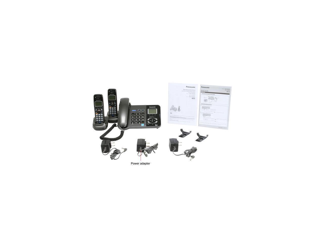 Panasonic KX-TG9392T 1.9 GHz Digital DECT 6.0 2X Handsets