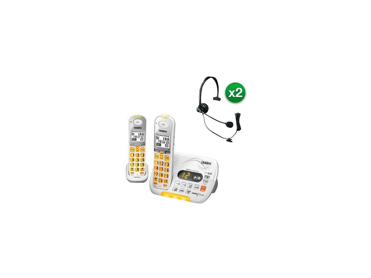 Uniden D3097-2 with Headset DECT 6.0 Amplified Cordless