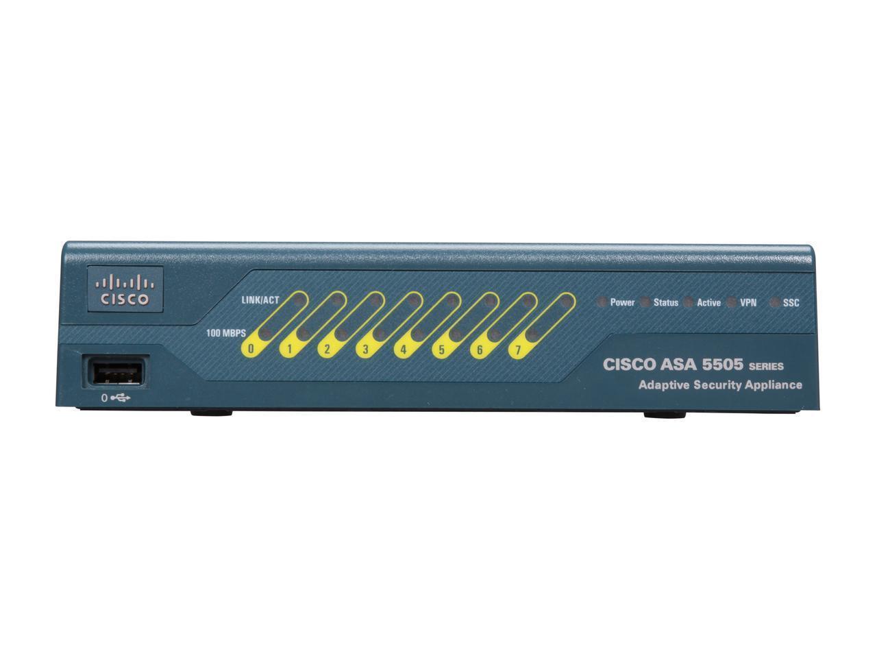 Cisco ASA 5505 10-User Network Security/Firewall Appliance Model ASA5505-BUN-K9 - Newegg.com
