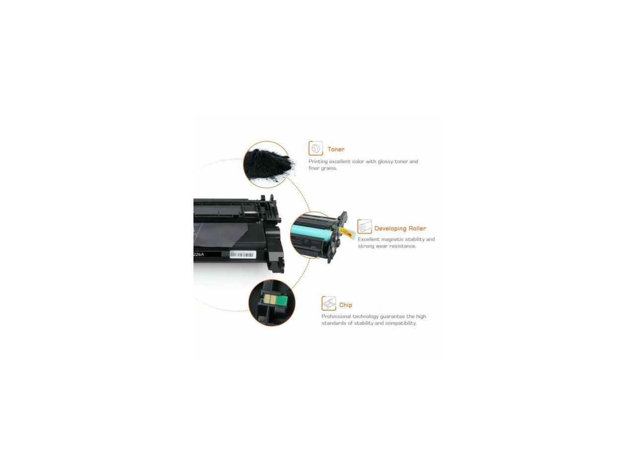 3PK CF226A 26A Black Toner Cartridge For HP LaserJet Pro