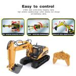 Huina 1550 1 14 15ch 680 Degree Rotation Alloy Bucket Rc Excavator Construction Vehicle Toy Gift With Cool Sound Light Effect Newegg Com