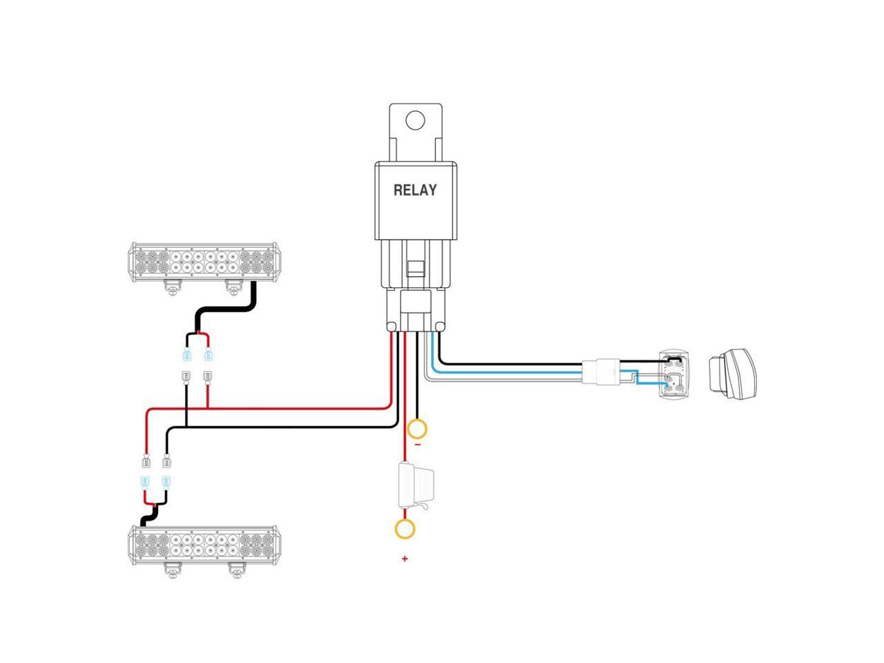 Nilight LED Light Bar Wiring Harness Kit 12V 5Pin Rocker