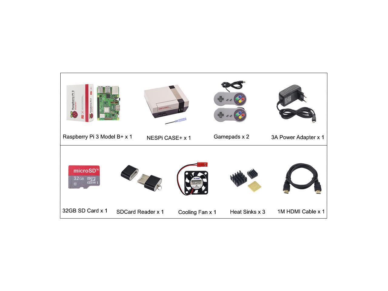 New Nespi Case Raspberry Pi 3 Model B Full Kits 32gb