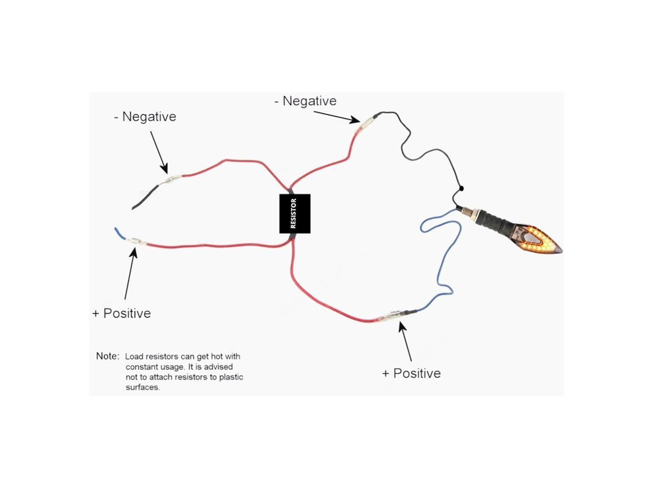 Motorcycle LED Signal Indicator Flasher Relay Resistors
