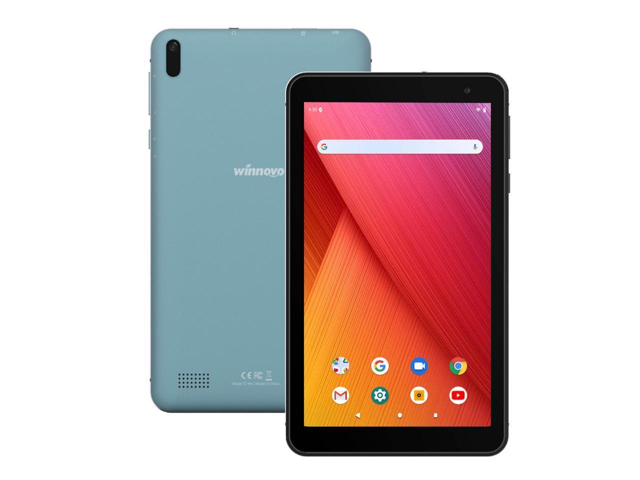 Android 9.0 Tablet 7 Inch WiFi PC Tablets - Winnovo T7 Pro MT8163 2GB RAM 32GB ROM IPS 2.0MP+2.0MP Camera Bluetooth GPS FM (Blue) - Newegg.com