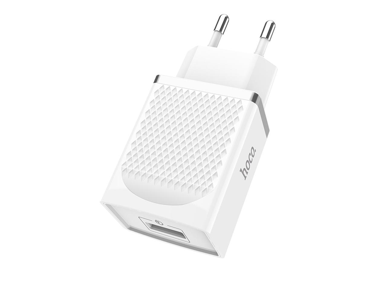 Hoco C42a Eu Plug Usb Port Qc 3 0 Charger Power Adapter