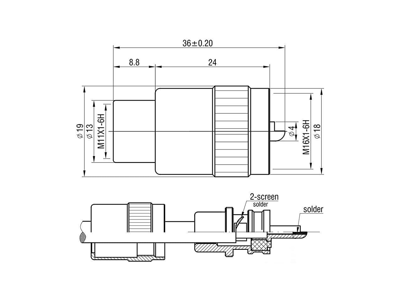 PL259 PL259 MalePlug Solder Coax Connector Adapter RF