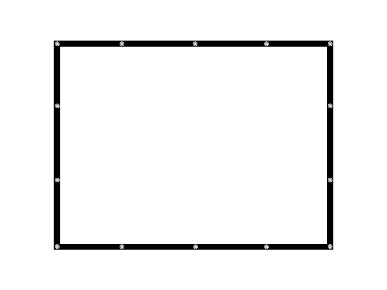 54/84/100/112 Inch 4:3 Projector Screen Manual Hanging