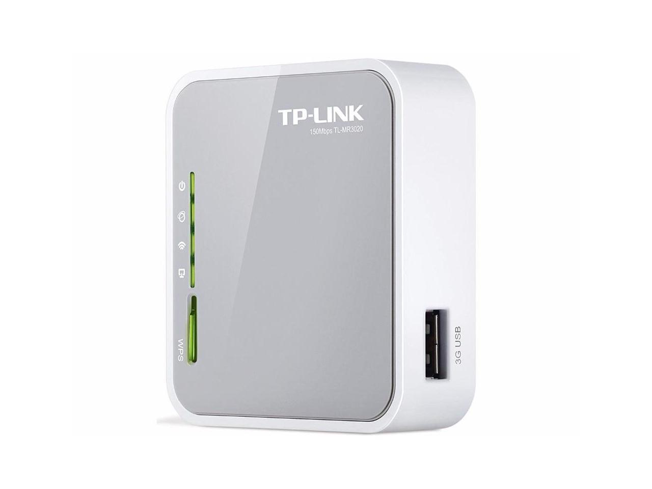 TP-LINK TL-MR3020 150Mbps Portable 3G/4G wireless wifi repeater router with USB powered English firmware - Newegg.com