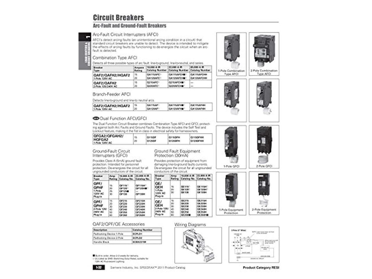 Siemens Q120DF 20-Amp Afci/Gfci Dual Function Circuit