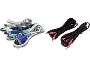 ps2 controller to usb wiring diagram voltage regulator kvm switches and cables newegg com keyboard mouse displayport video cable