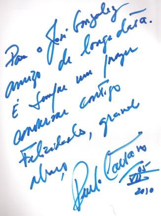 Autografo de Paulo Caetano