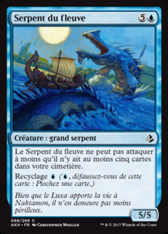 Il N'en Reste Pas Moins : reste, moins, Serpent, Fleuve, (River, Serpent), Amonkhet, (AKH), Scryfall, Magic:, Gathering, Search