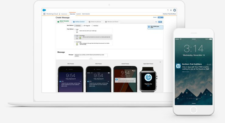mobile marketing software by salesforce