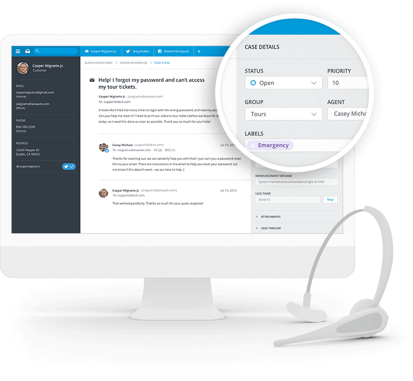 Help Desk Software Customer Service App for Small
