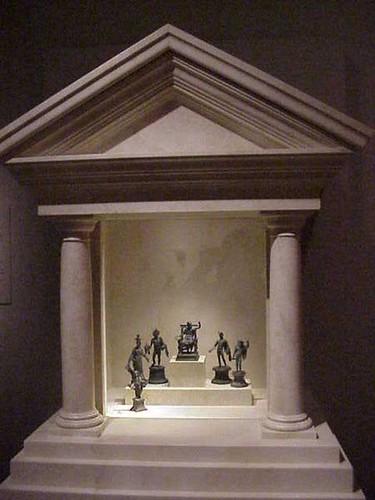 Roman Household shrine  Lares in Roman religion spirits   Flickr