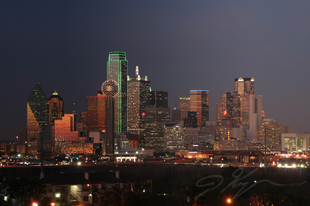 Dallas Skyline  Dallas at sunset Taken from a hospital par  Flickr
