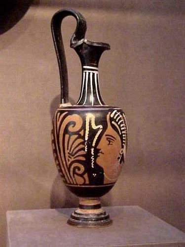 Redfigured Greek Oinochoe 5th century BCE Terracotta  Flickr
