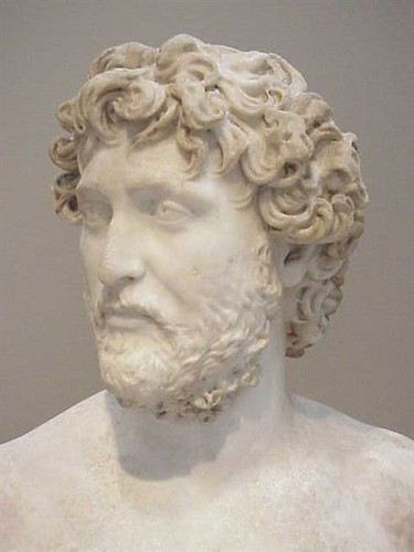 Roman man who resembles the Emperor Hadrian Late Antonine