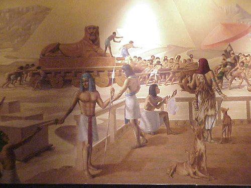 Painting of a scene from ancient Egypt formerly displayed
