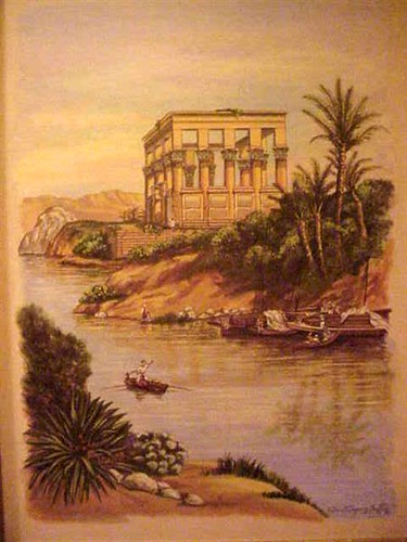 Painting of a scene from ancient Egypt formerly displayed   Flickr